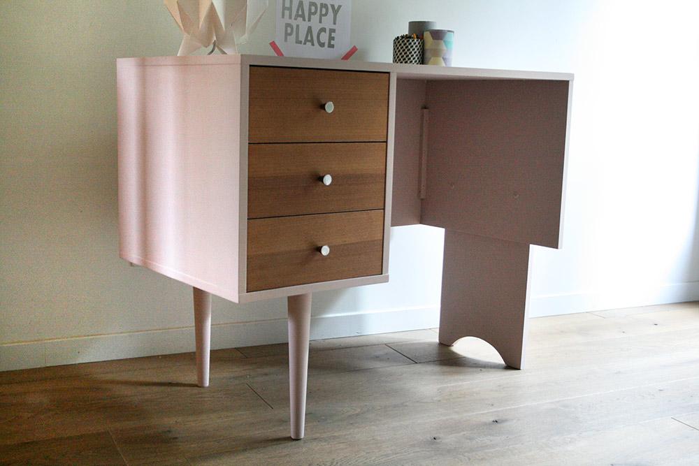 bureau vintage jasmin les jolis meubles. Black Bedroom Furniture Sets. Home Design Ideas