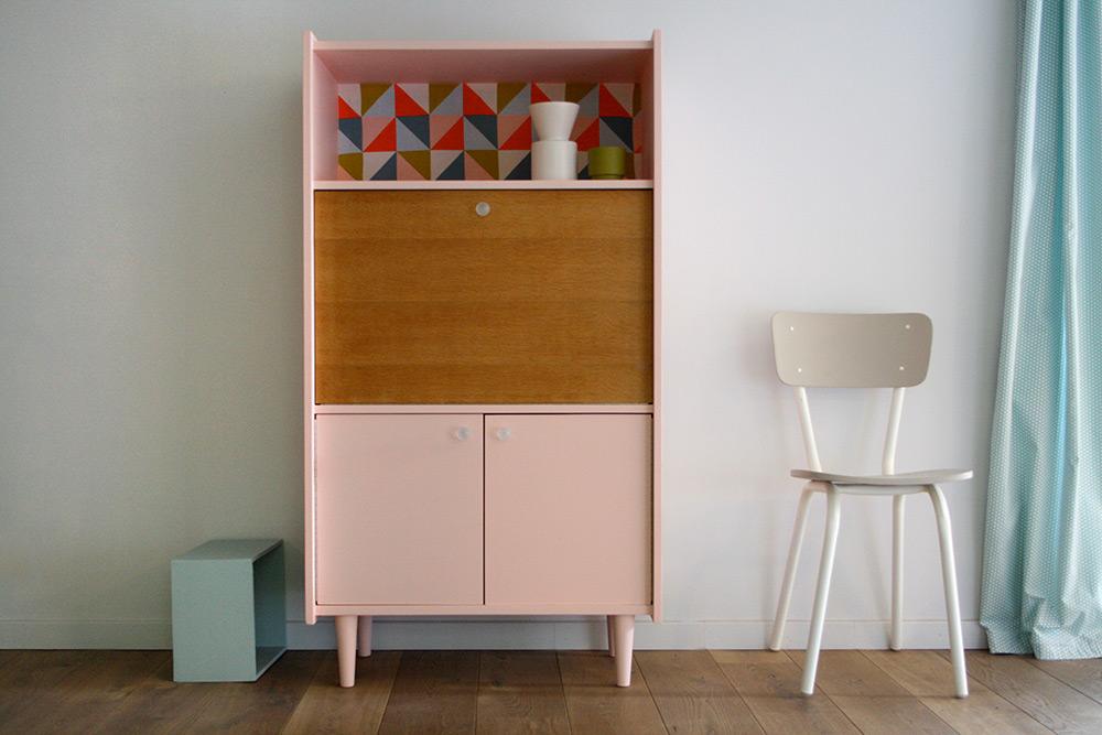 Secr taire vintage anatole les jolis meubles for Commande meubles concept